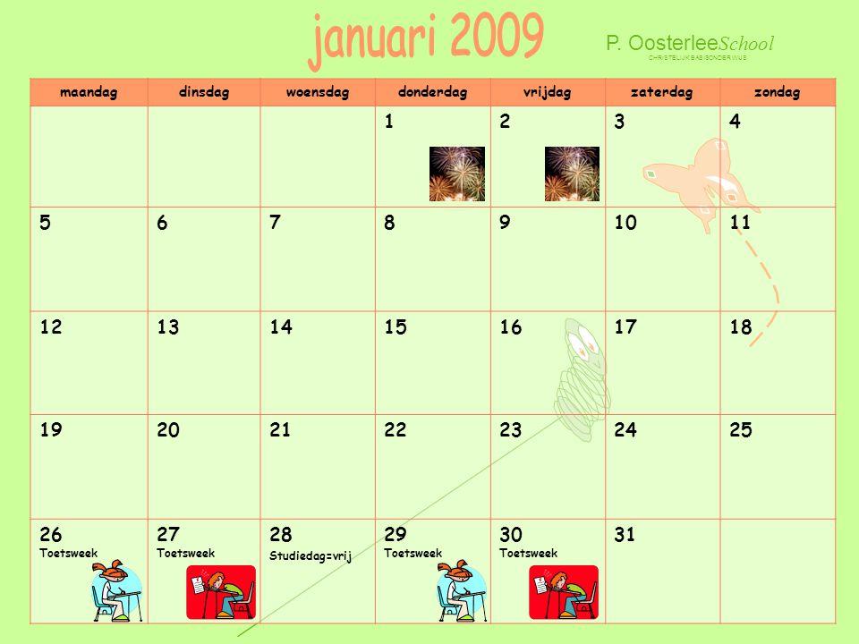 januari 2009 P. OosterleeSchool 1 2 3 4 5 6 7 8 9 10 11 12 13 14 15 16