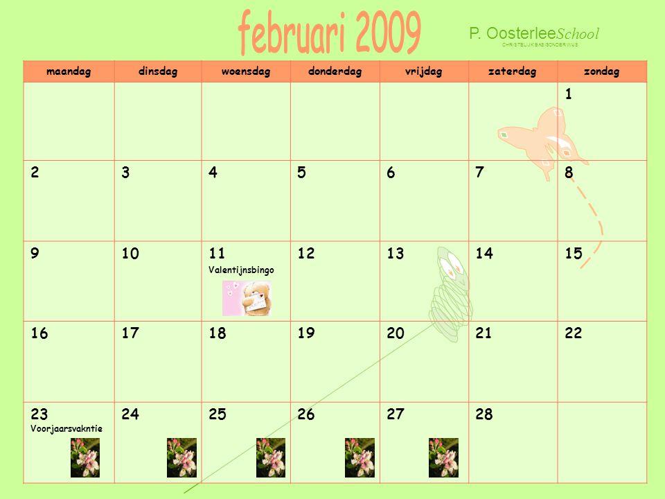 februari 2009 P. OosterleeSchool 1 2 3 4 5 6 7 8 9 10 11 12 13 14 15