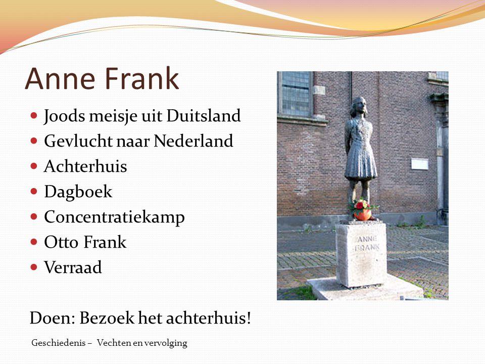 Anne Frank Joods meisje uit Duitsland Gevlucht naar Nederland