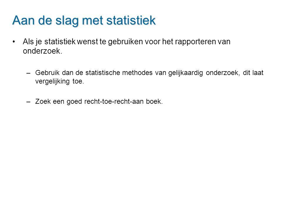 Aan de slag met statistiek