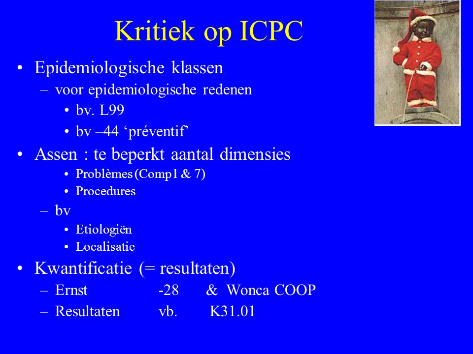 Kritiek op ICPC Epidemiologische klassen