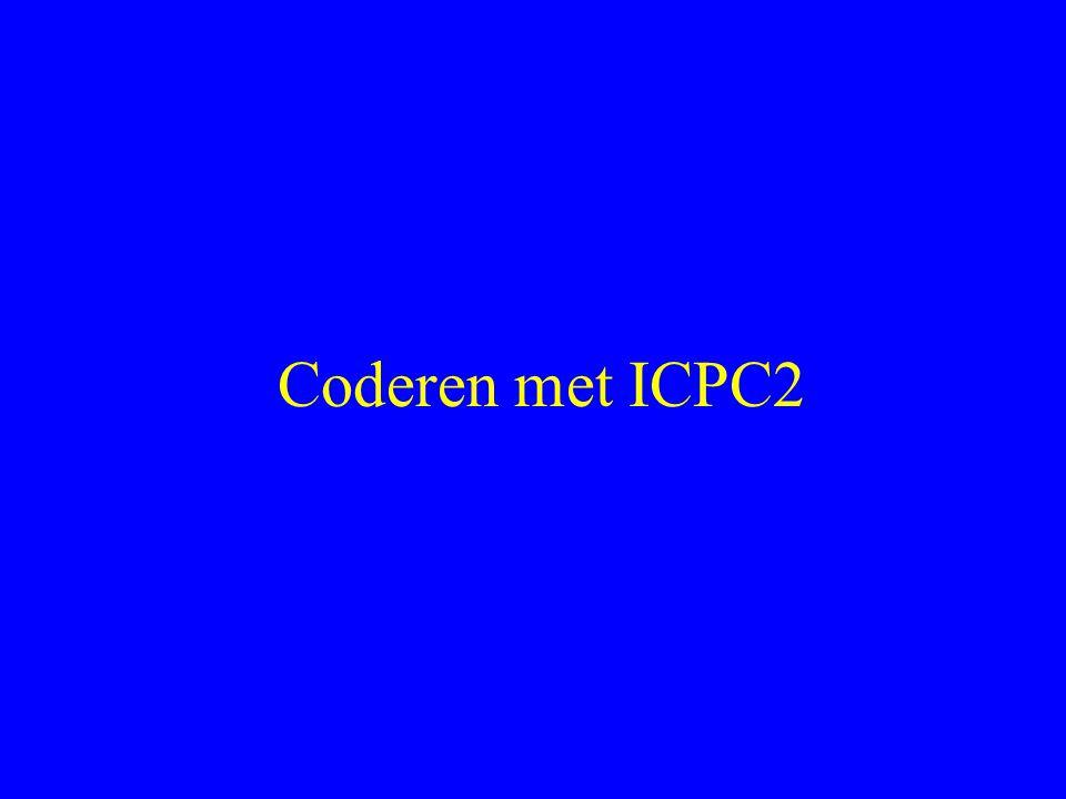 Coderen met ICPC2