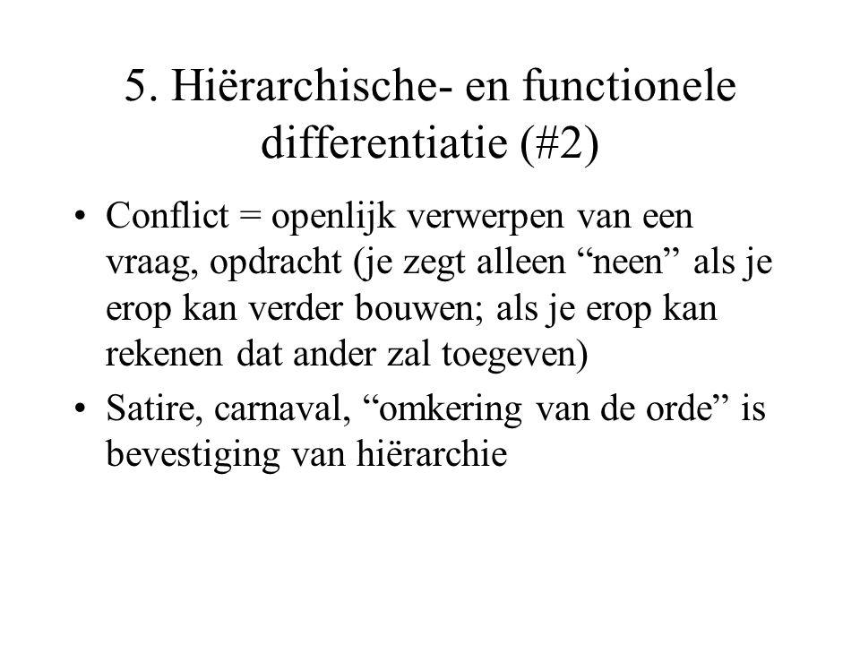 5. Hiërarchische- en functionele differentiatie (#2)