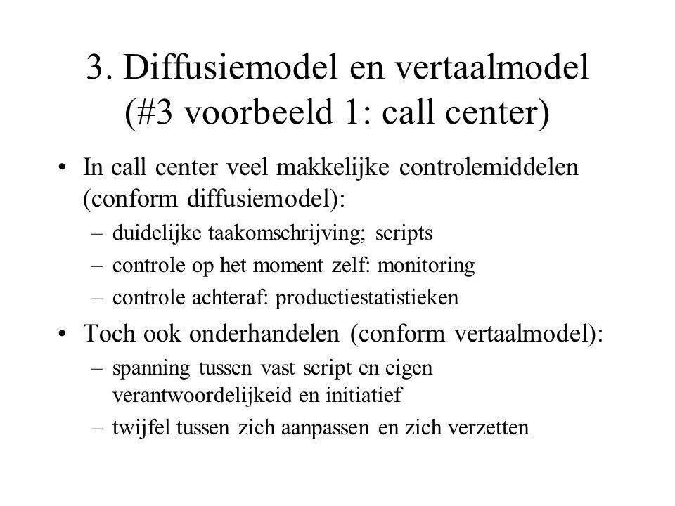 3. Diffusiemodel en vertaalmodel (#3 voorbeeld 1: call center)