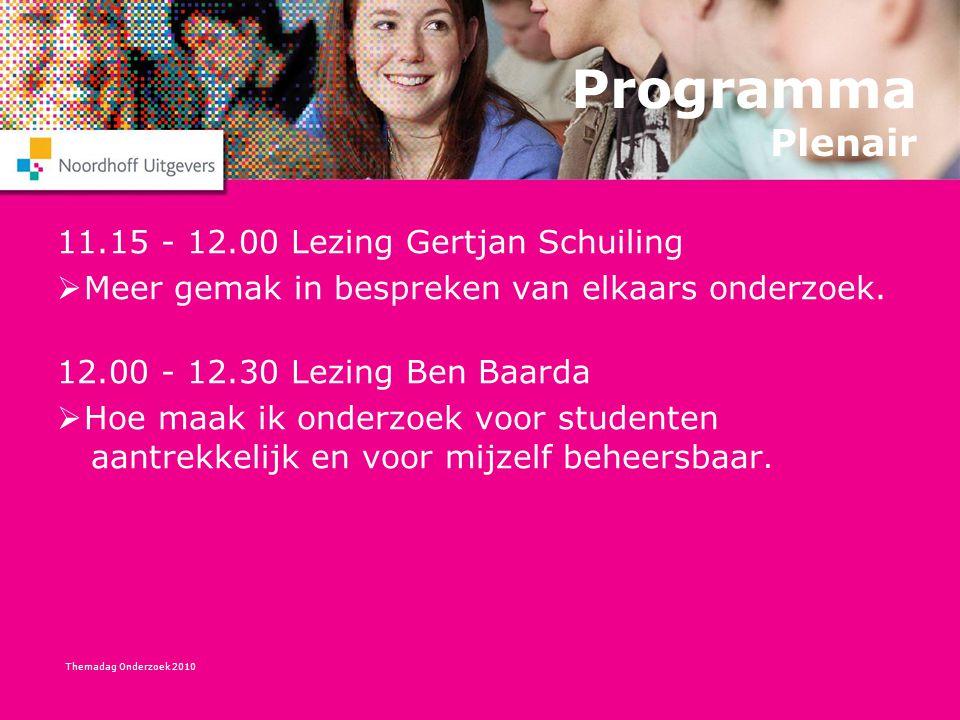 Programma Plenair 11.15 - 12.00 Lezing Gertjan Schuiling
