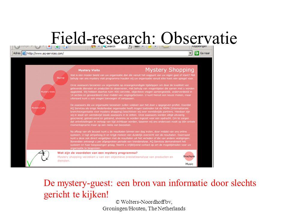 Field-research: Observatie