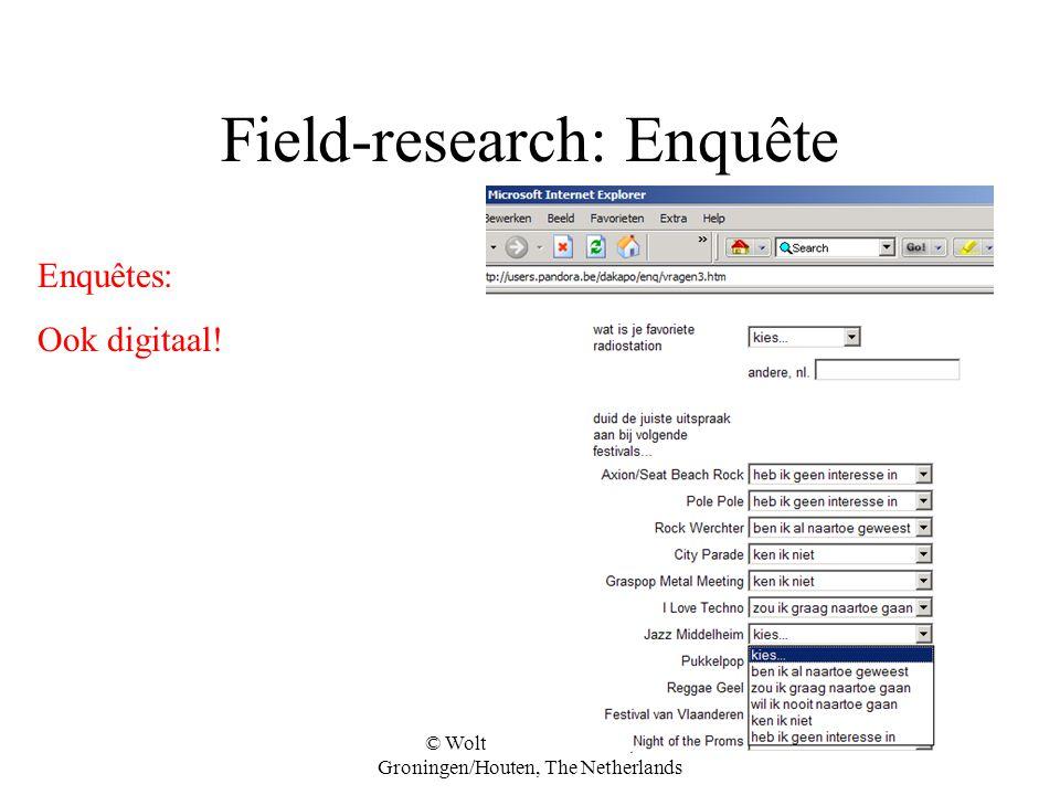 Field-research: Enquête