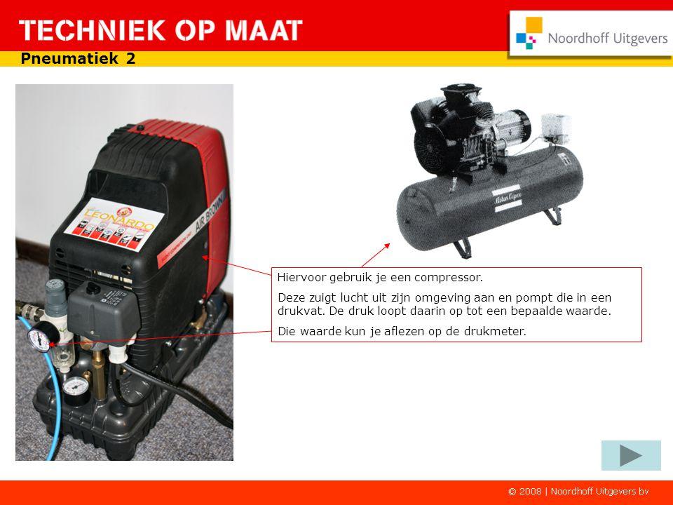 Pneumatiek 2 Hiervoor gebruik je een compressor.