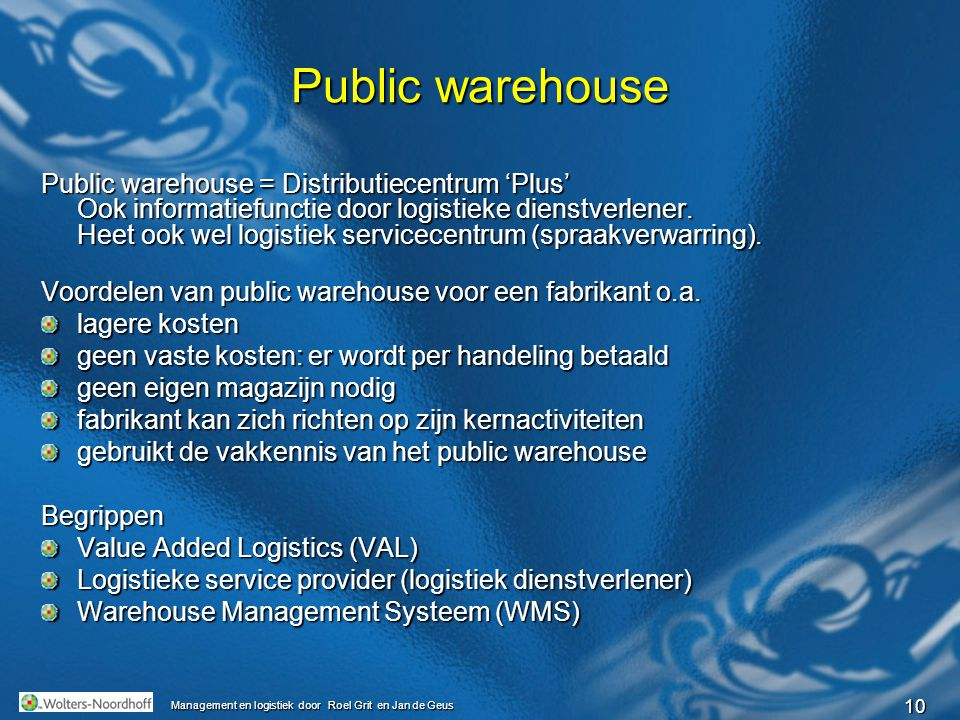 Public warehouse