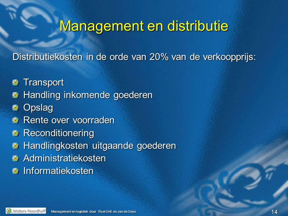 Management en distributie