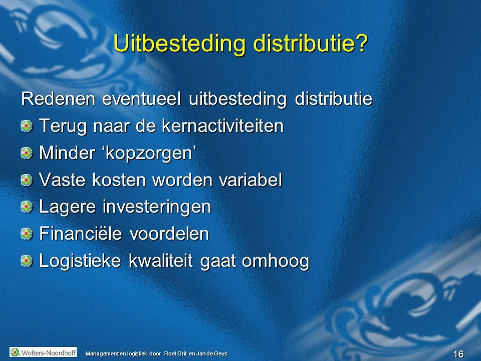 Uitbesteding distributie