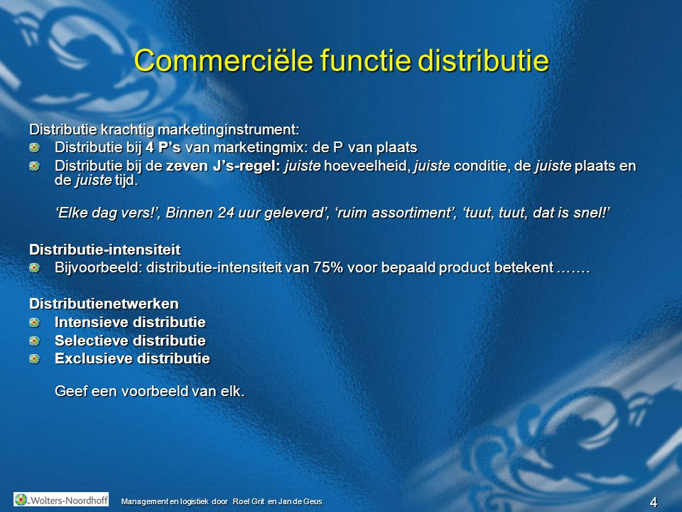 Commerciële functie distributie
