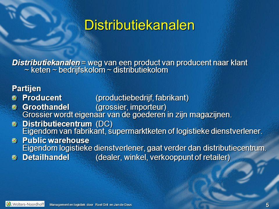 Distributiekanalen Distributiekanalen = weg van een product van producent naar klant ~ keten ~ bedrijfskolom ~ distributiekolom.