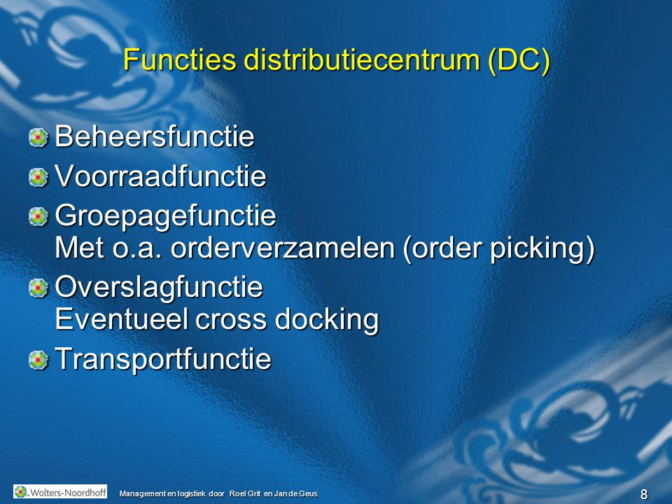 Functies distributiecentrum (DC)