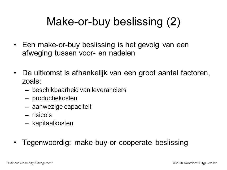Make-or-buy beslissing (2)
