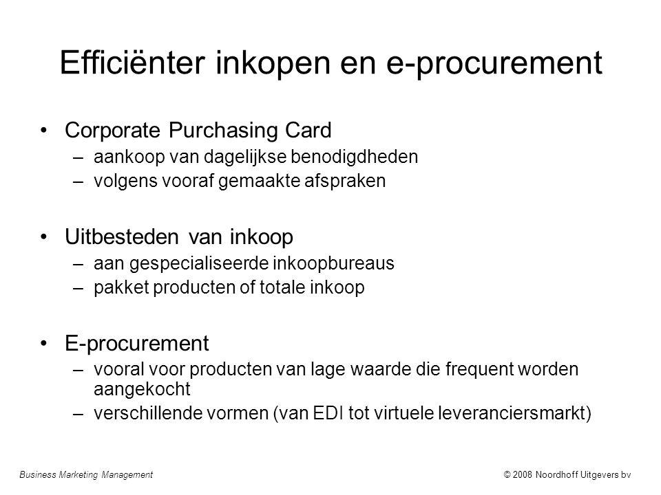 Efficiënter inkopen en e-procurement