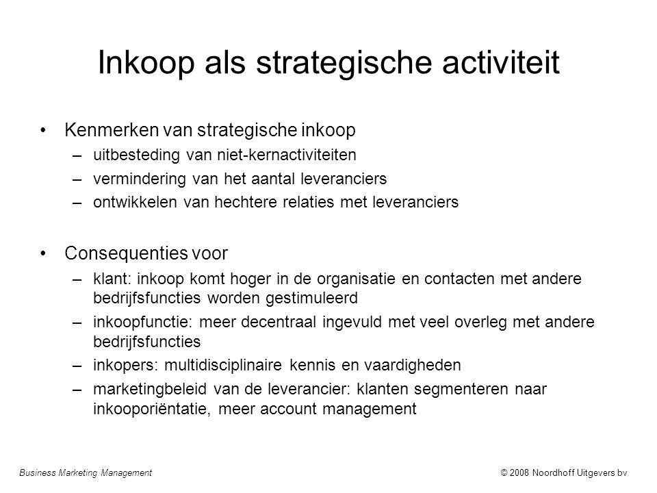 Inkoop als strategische activiteit