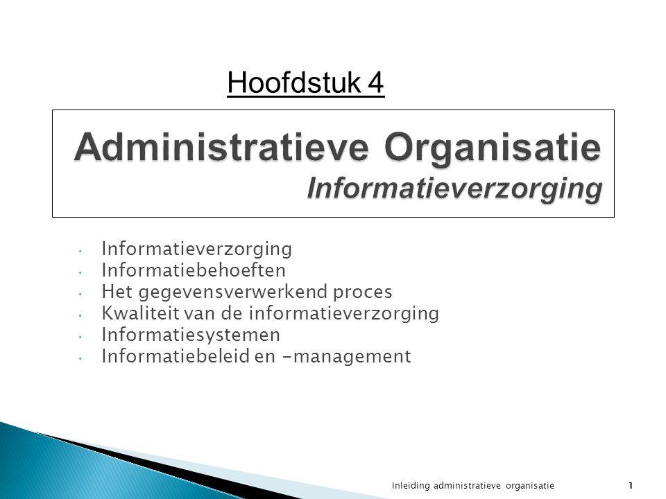 Administratieve Organisatie Informatieverzorging