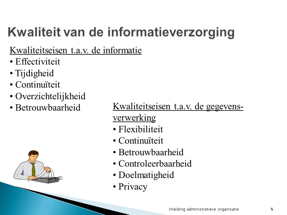 Kwaliteit van de informatieverzorging