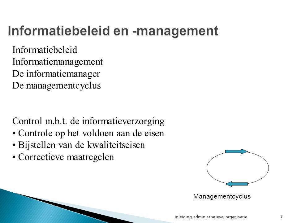 Informatiebeleid en -management