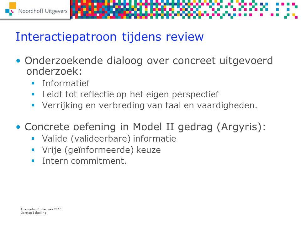 Interactiepatroon tijdens review