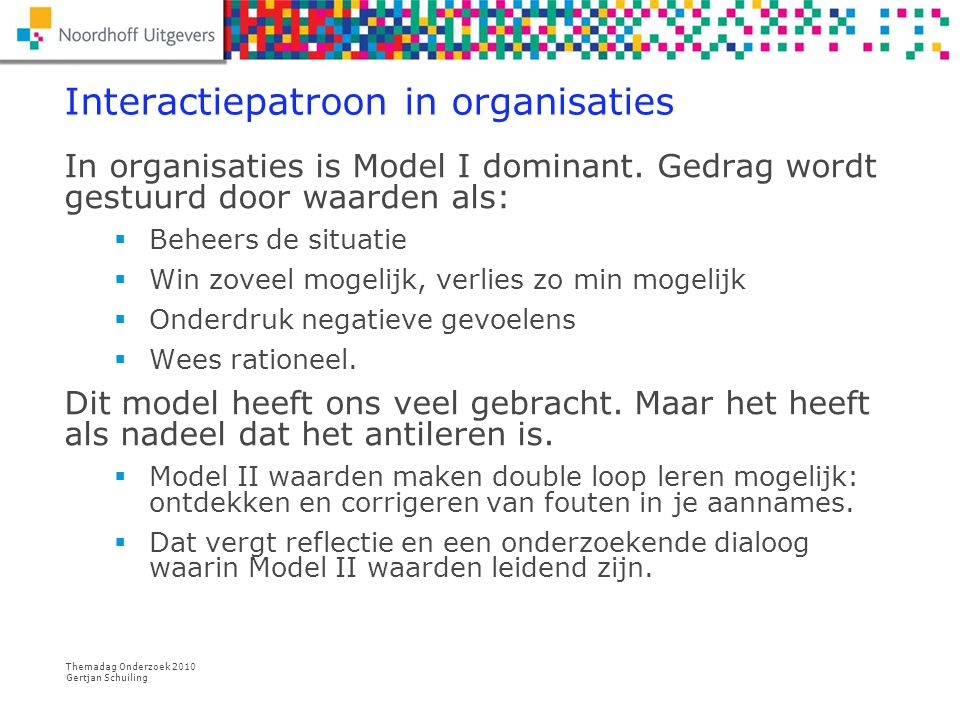 Interactiepatroon in organisaties