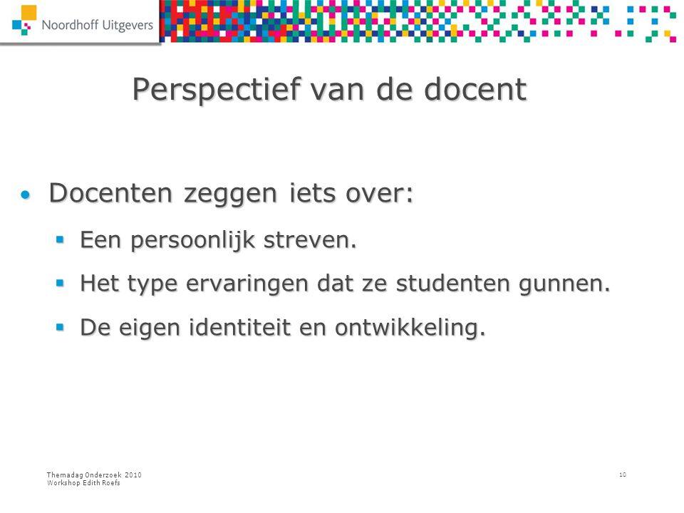 Perspectief van de docent