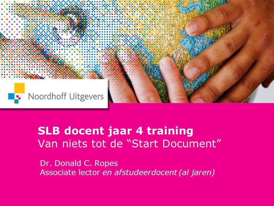 SLB docent jaar 4 training Van niets tot de Start Document