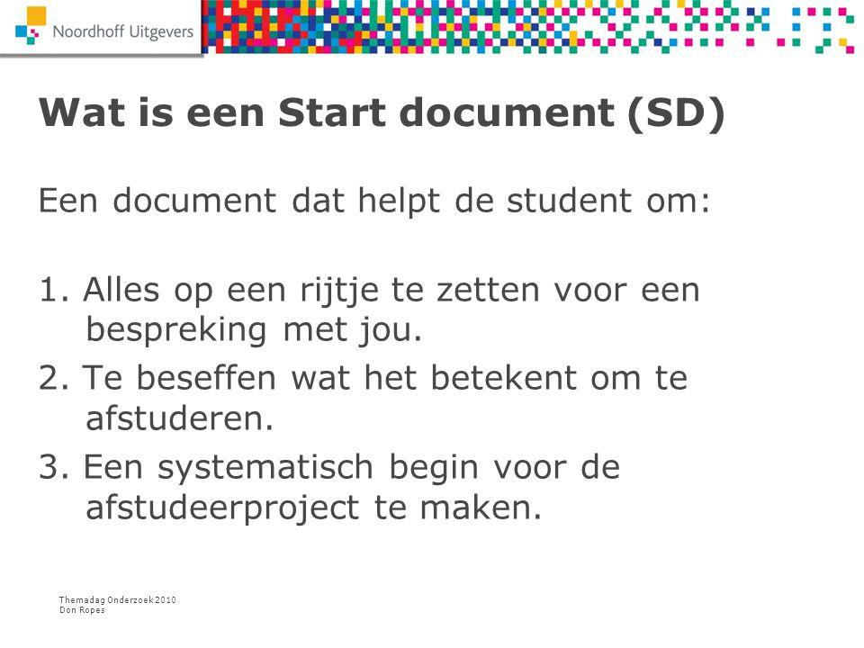 Wat is een Start document (SD)