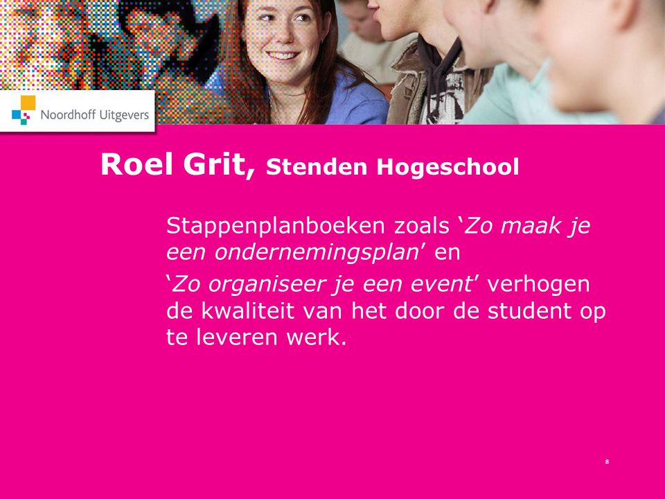 Roel Grit, Stenden Hogeschool