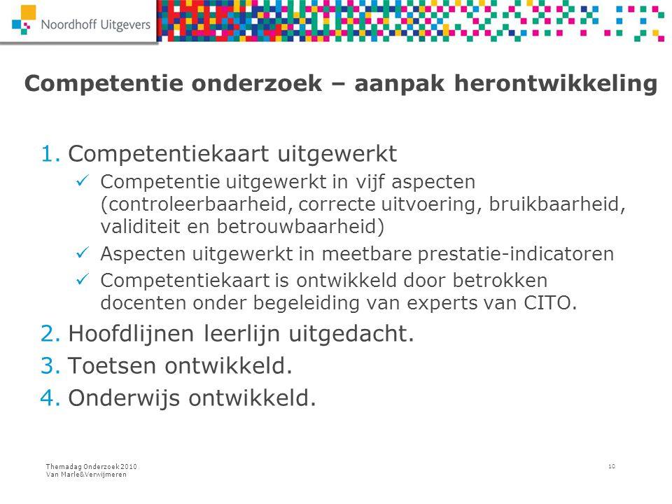 Competentie onderzoek – aanpak herontwikkeling