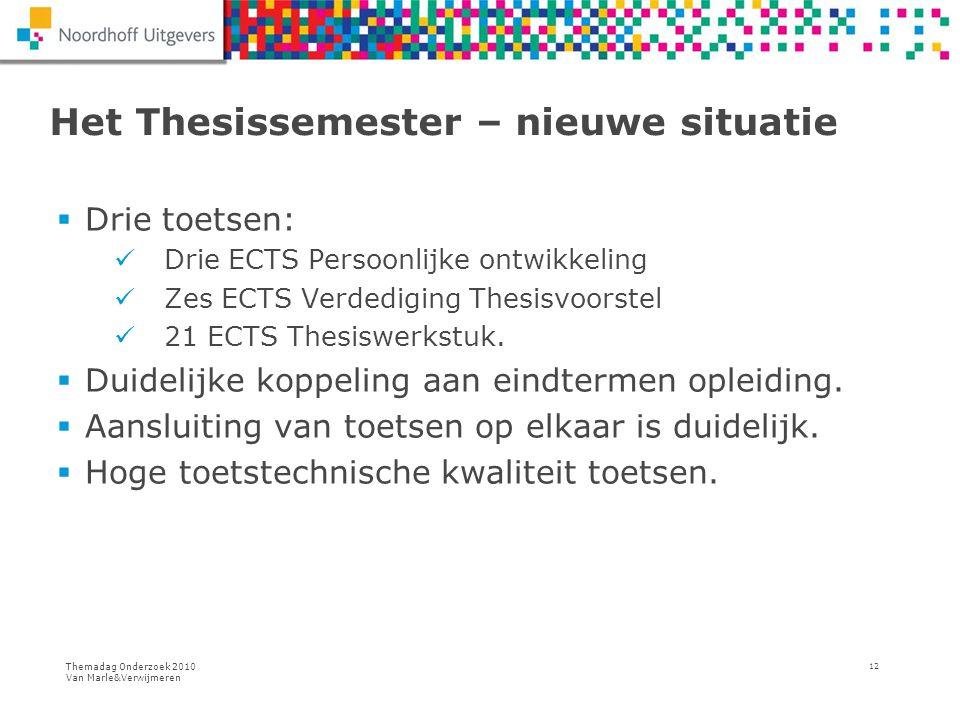 Het Thesissemester – nieuwe situatie