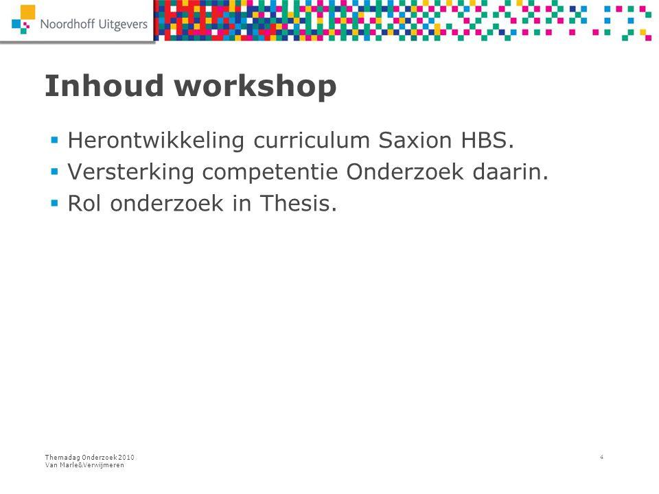 Inhoud workshop Herontwikkeling curriculum Saxion HBS.