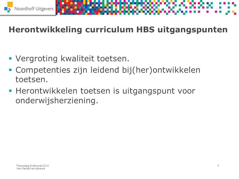 Herontwikkeling curriculum HBS uitgangspunten