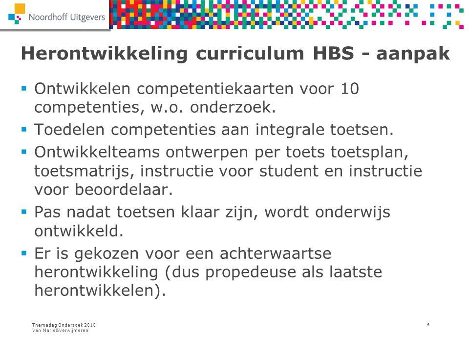 Herontwikkeling curriculum HBS - aanpak