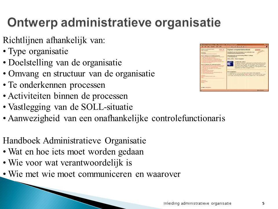 Ontwerp administratieve organisatie