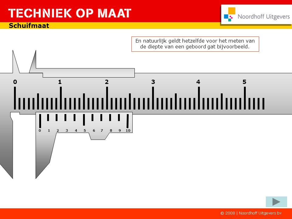 Schuifmaat En natuurlijk geldt hetzelfde voor het meten van de diepte van een geboord gat bijvoorbeeld.