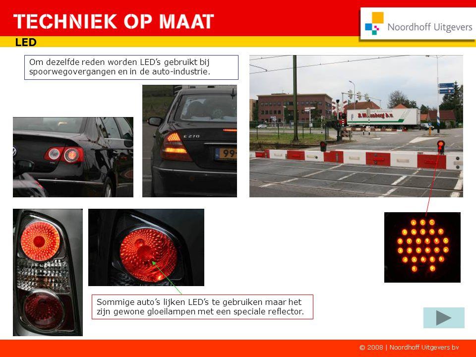LED Om dezelfde reden worden LED's gebruikt bij spoorwegovergangen en in de auto-industrie.