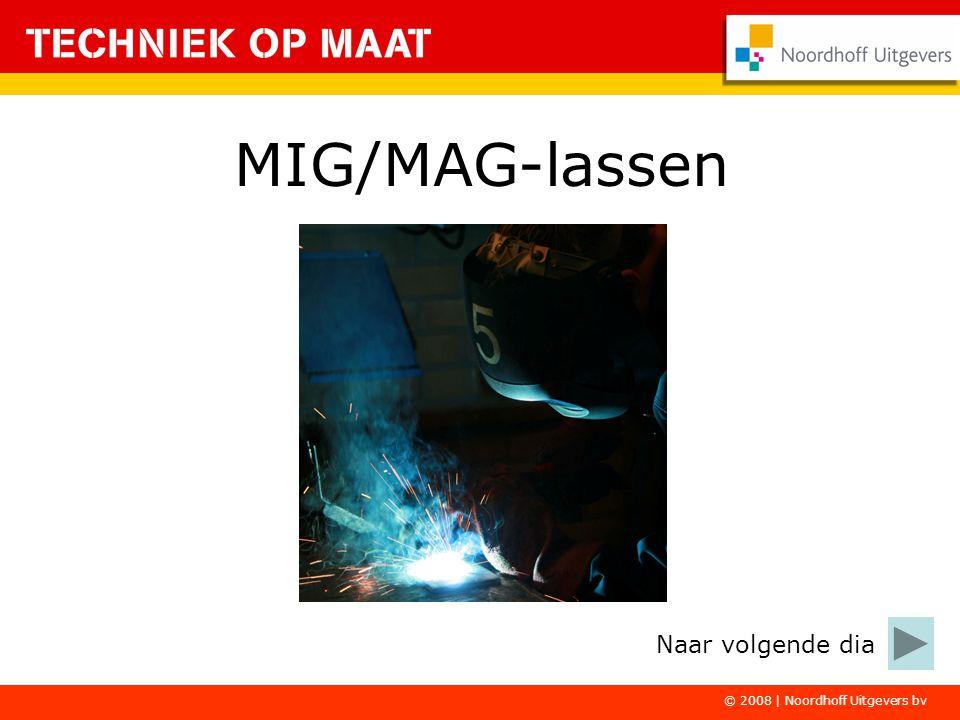 MIG/MAG-lassen Naar volgende dia © 2008 | Noordhoff Uitgevers bv