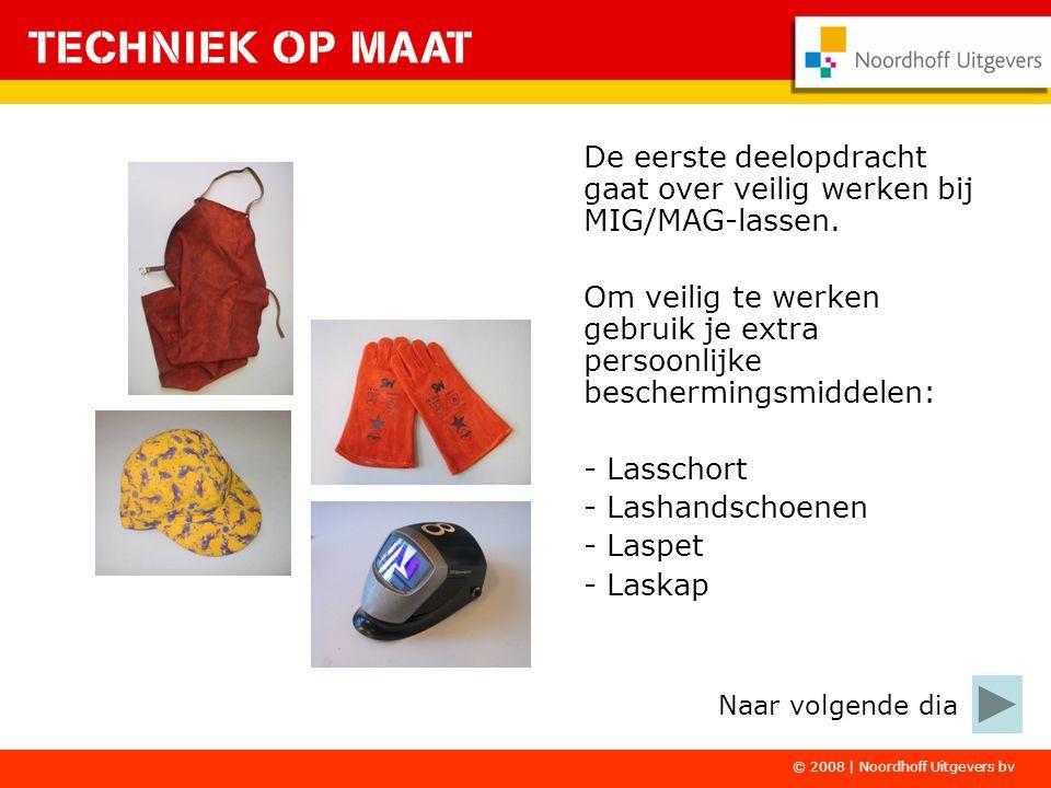 De eerste deelopdracht gaat over veilig werken bij MIG/MAG-lassen.