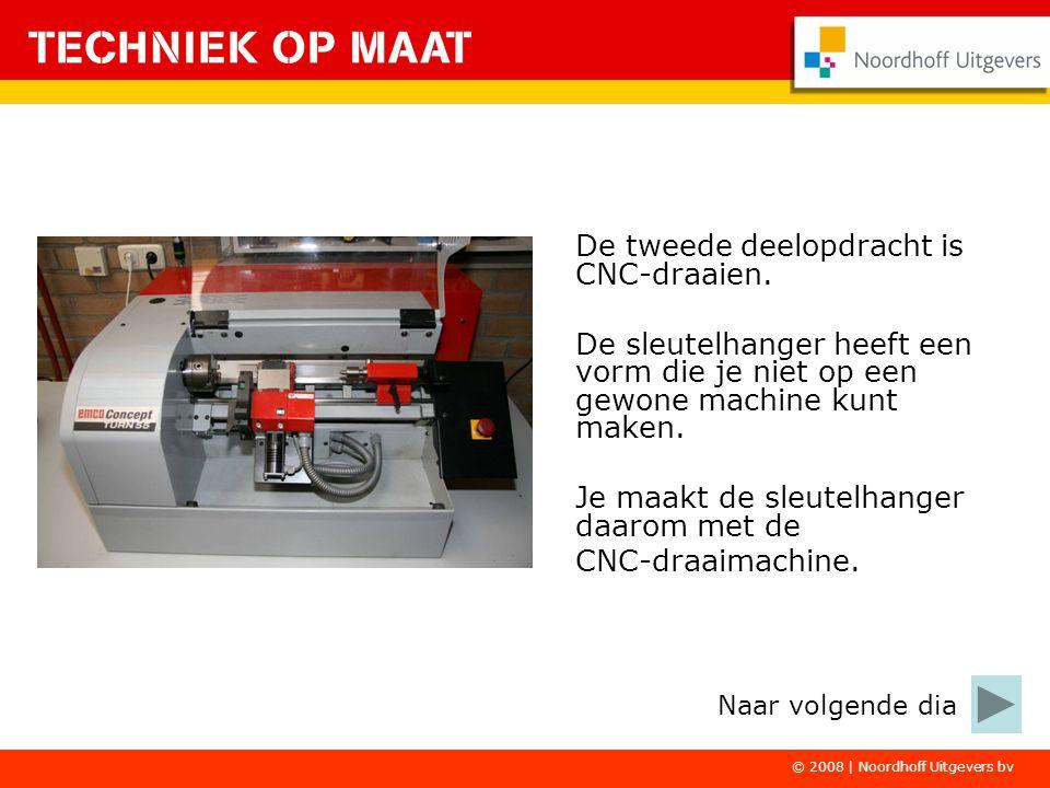 De tweede deelopdracht is CNC-draaien.