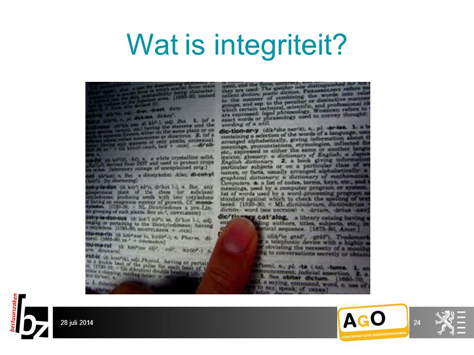 Wat is integriteit