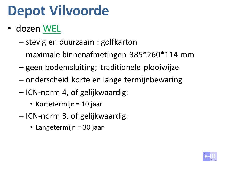 Depot Vilvoorde dozen WEL stevig en duurzaam : golfkarton