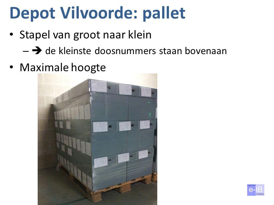 Depot Vilvoorde: pallet