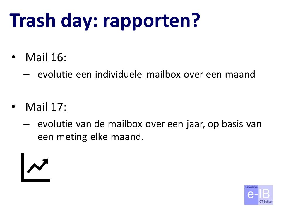 Trash day: rapporten Mail 16: Mail 17: