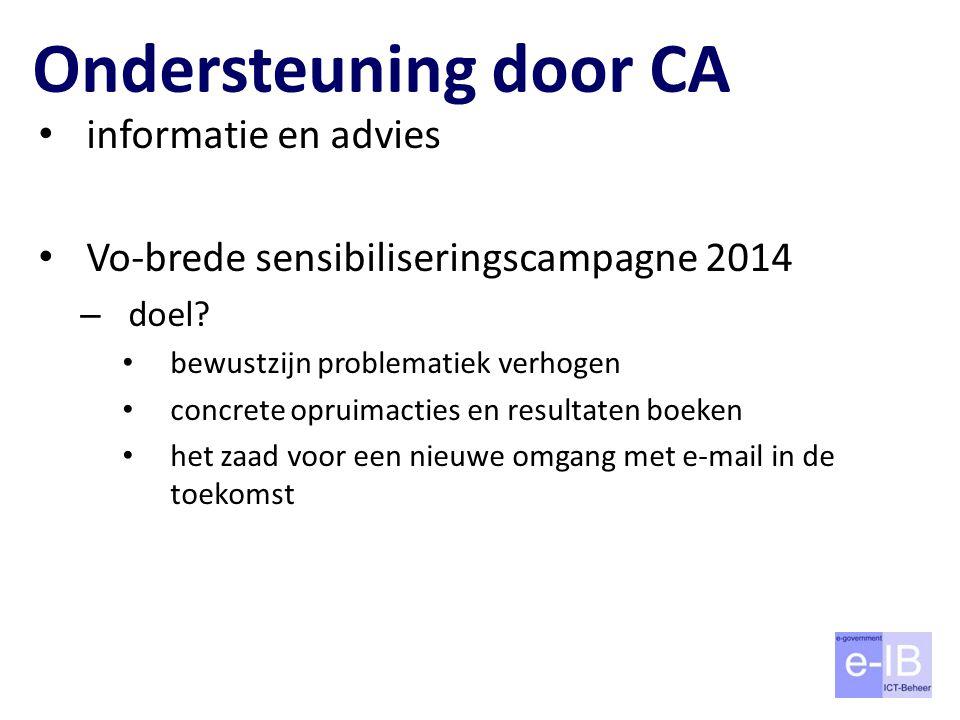 Ondersteuning door CA informatie en advies