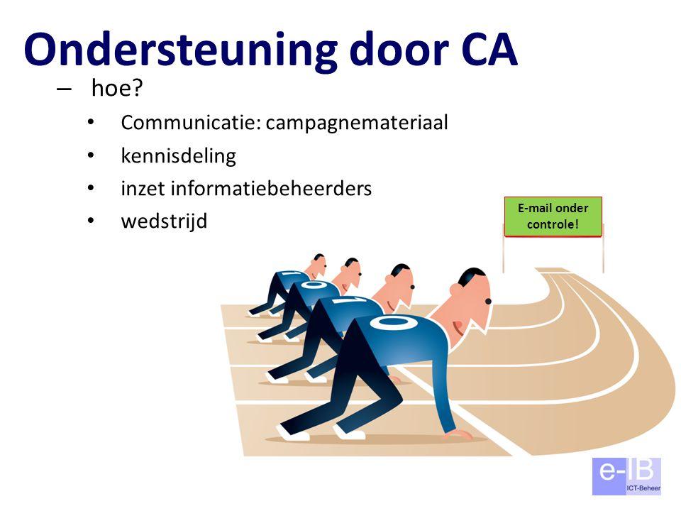 Ondersteuning door CA hoe Communicatie: campagnemateriaal