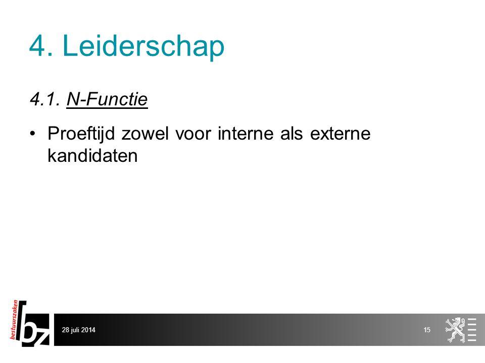 4. Leiderschap 4.1. N-Functie