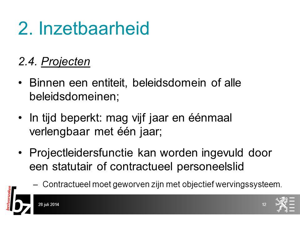 2. Inzetbaarheid 2.4. Projecten