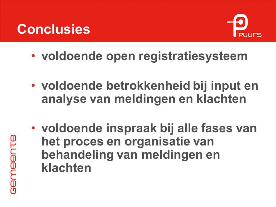 Conclusies voldoende open registratiesysteem